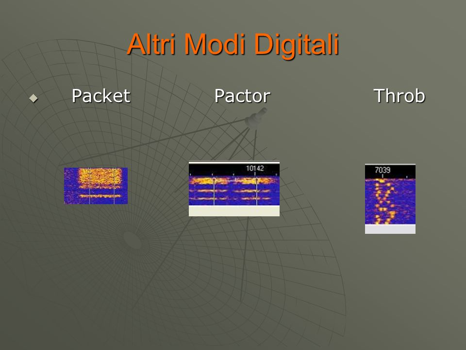 Altri Modi Digitali Packet Pactor Throb