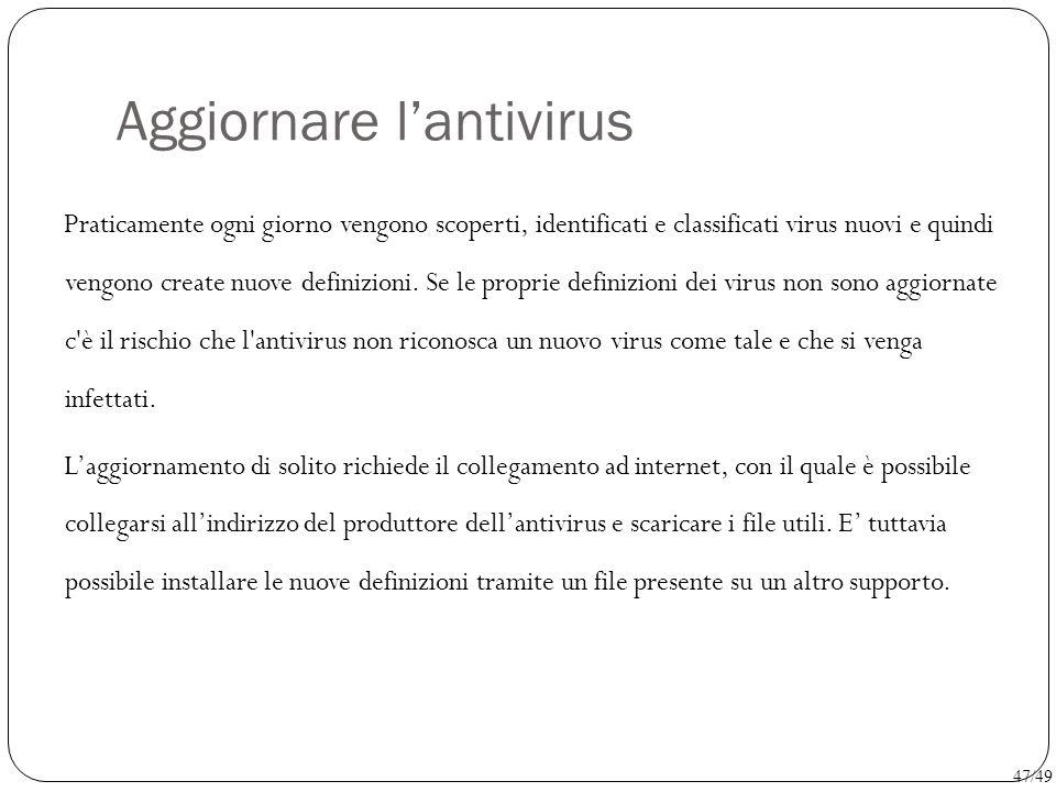 Aggiornare l'antivirus