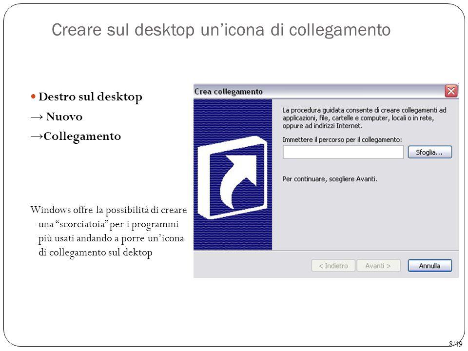 Creare sul desktop un'icona di collegamento