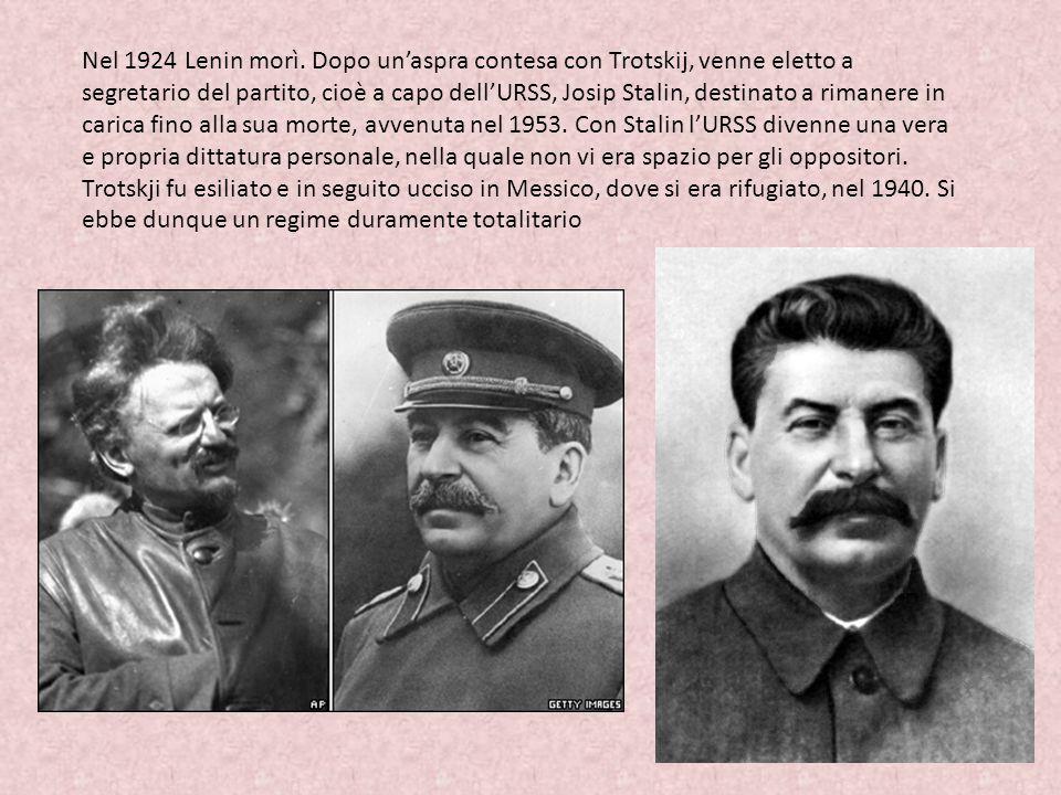 Nel 1924 Lenin morì.