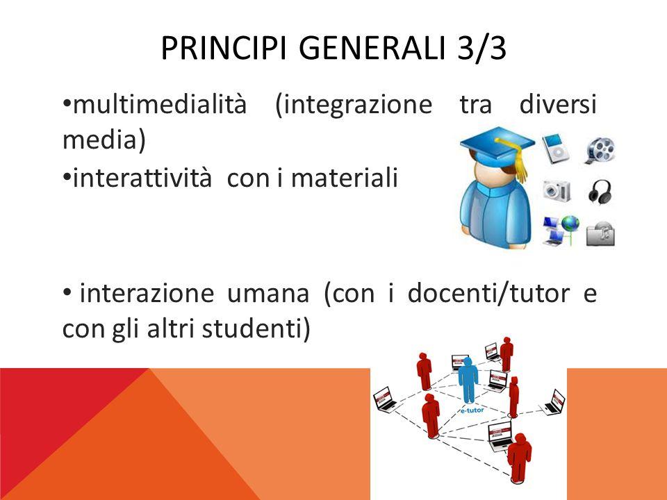 Principi generali 3/3 multimedialità (integrazione tra diversi media)
