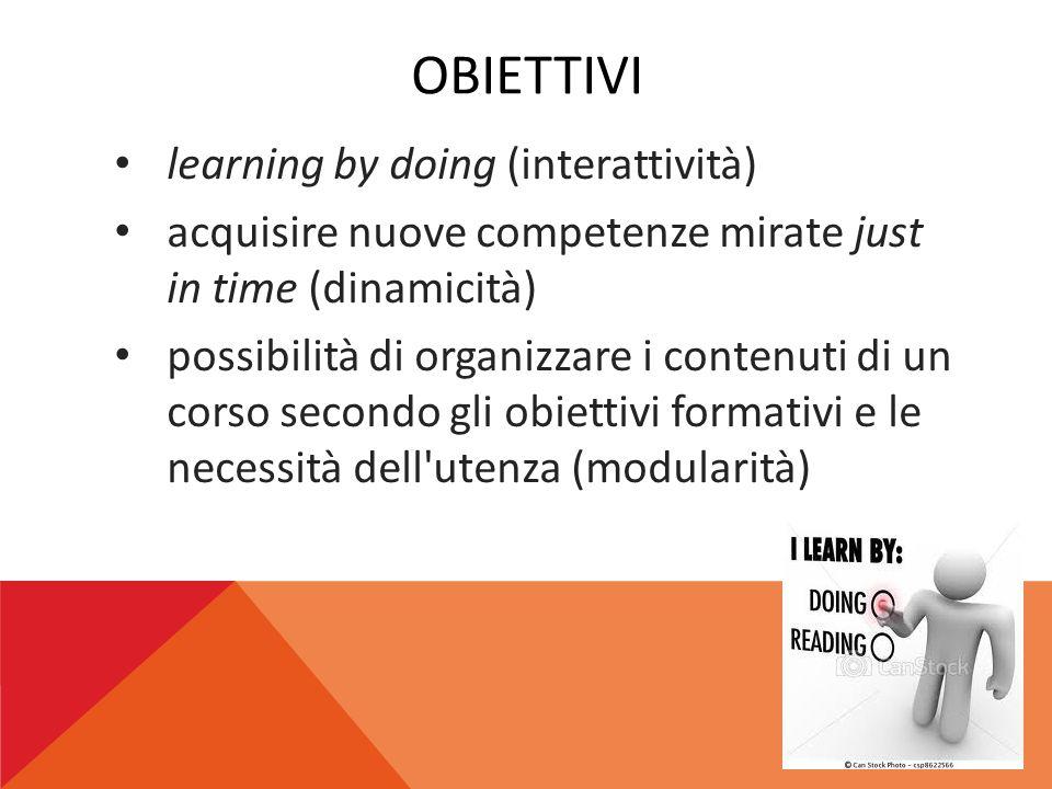 obiettivi learning by doing (interattività)