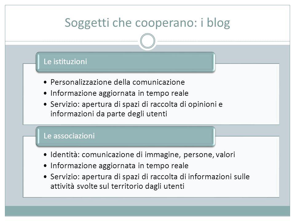 Soggetti che cooperano: i blog
