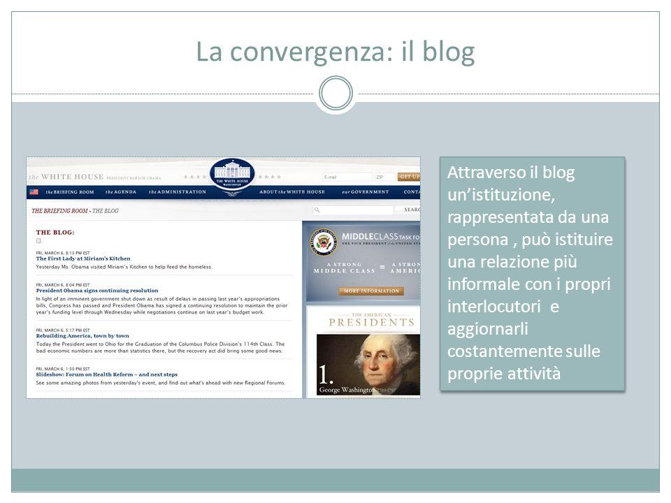 La convergenza: il blog