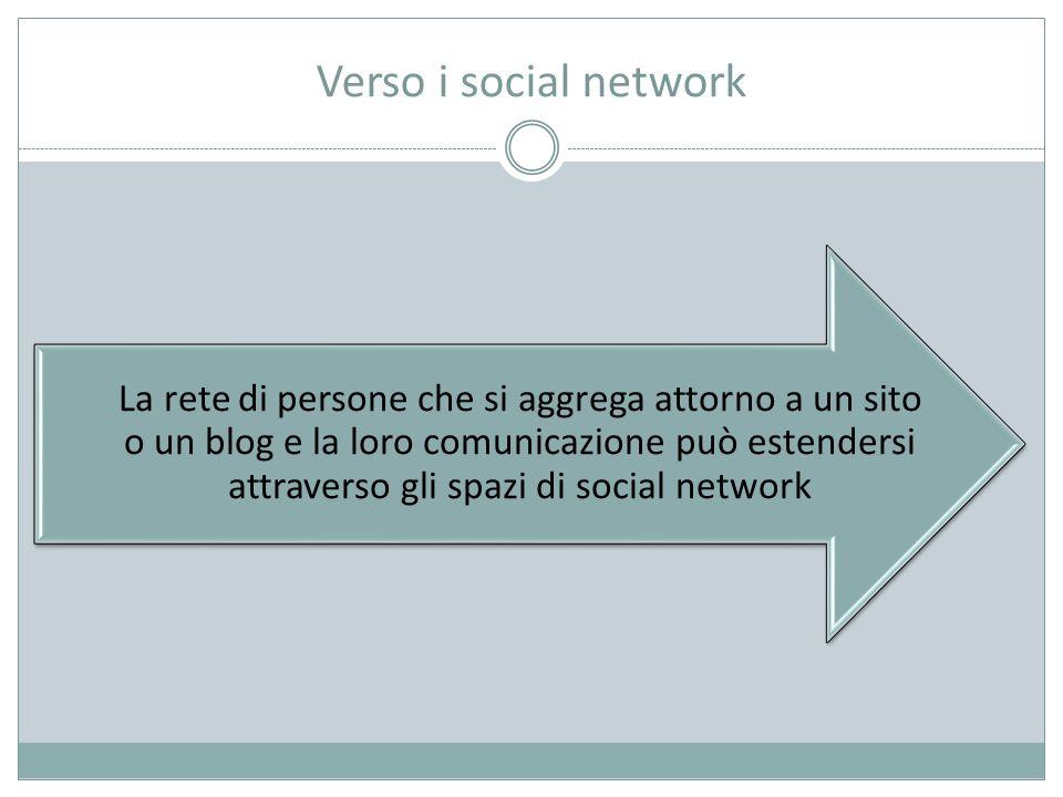 Verso i social network