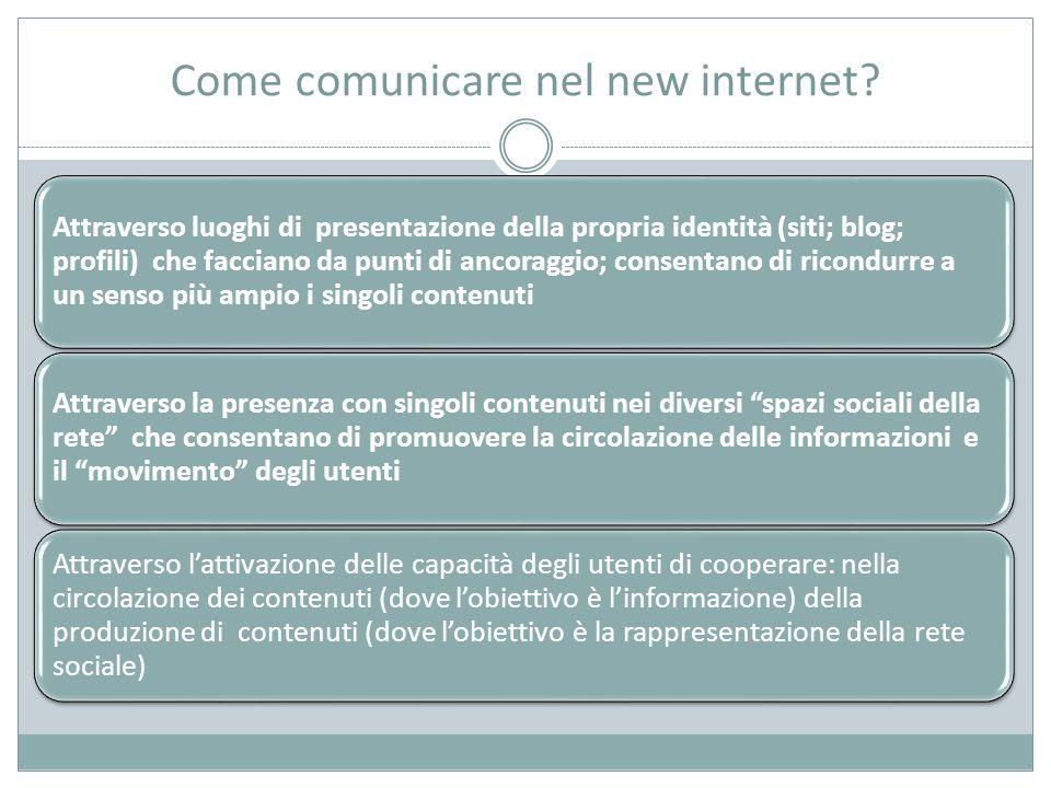 Come comunicare nel new internet