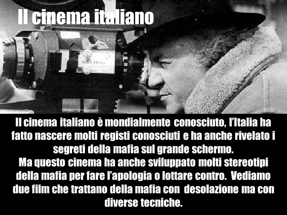 Il cinema italiano