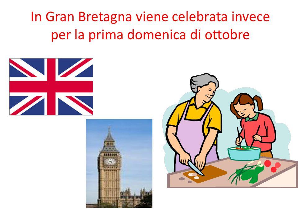 In Gran Bretagna viene celebrata invece per la prima domenica di ottobre