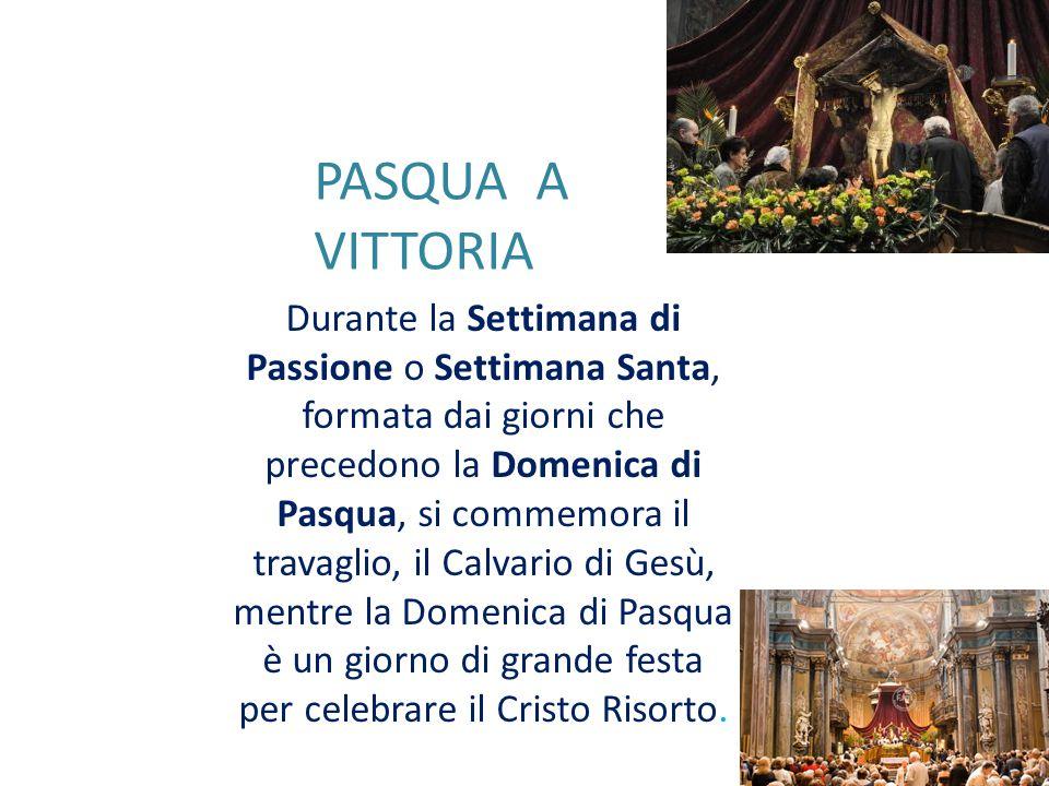 Durante la Settimana di Passione o Settimana Santa, formata dai giorni che precedono la Domenica di Pasqua, si commemora il travaglio, il Calvario di Gesù, mentre la Domenica di Pasqua è un giorno di grande festa per celebrare il Cristo Risorto.