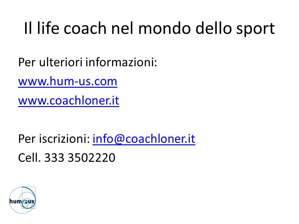 Il life coach nel mondo dello sport