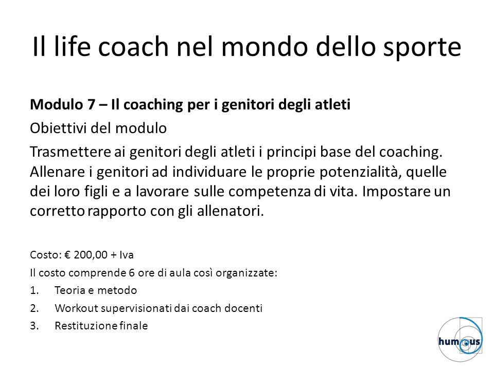 Il life coach nel mondo dello sporte