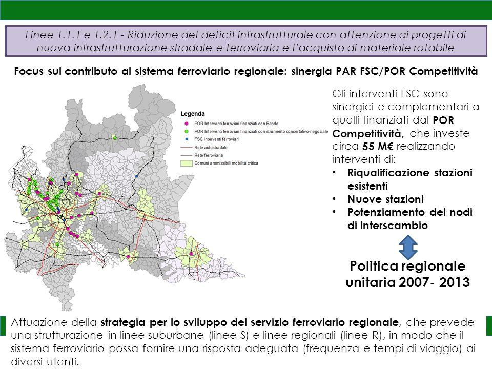 Politica regionale unitaria 2007- 2013