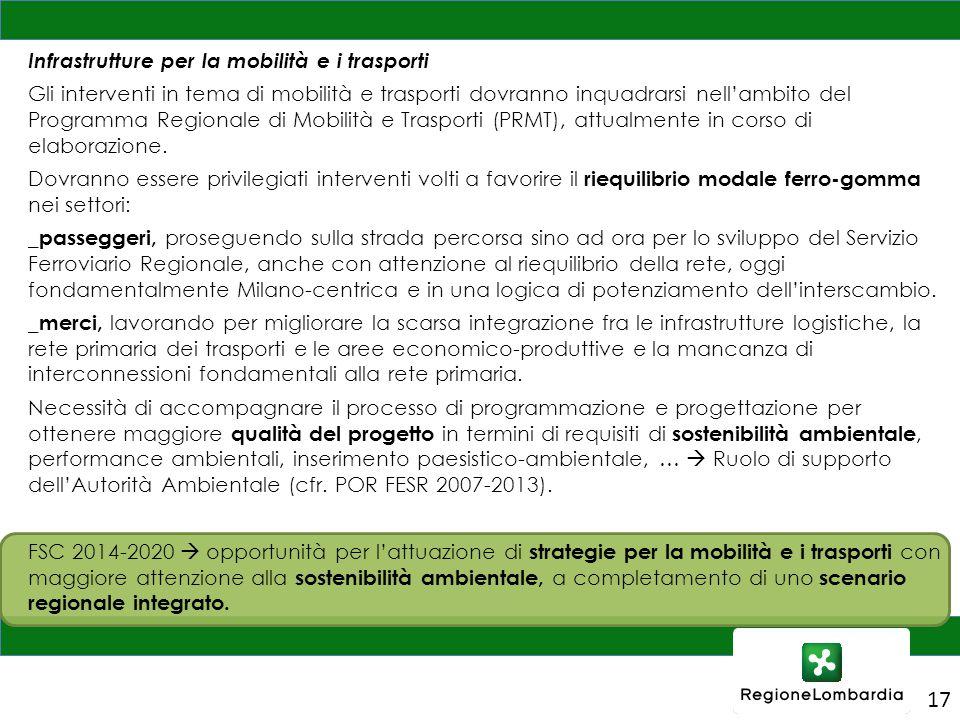 Infrastrutture per la mobilità e i trasporti