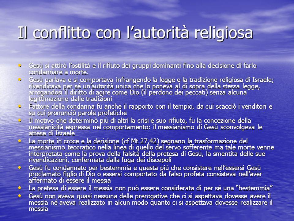 Il conflitto con l'autorità religiosa