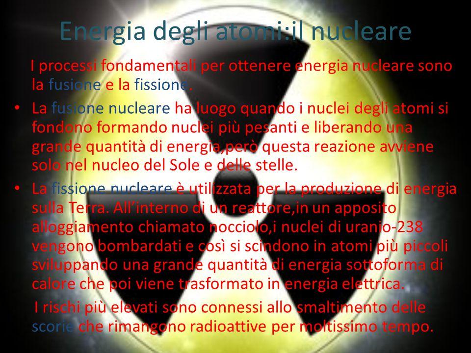 Energia degli atomi:il nucleare
