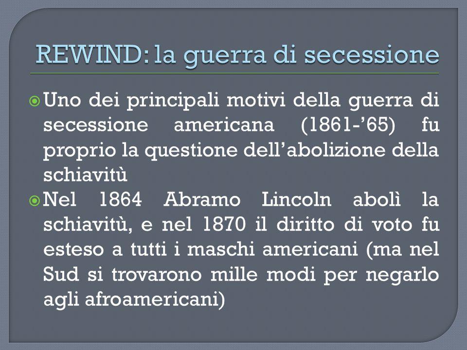 REWIND: la guerra di secessione