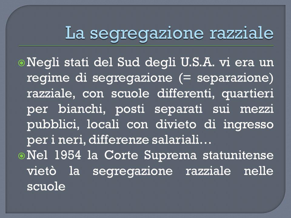 La segregazione razziale