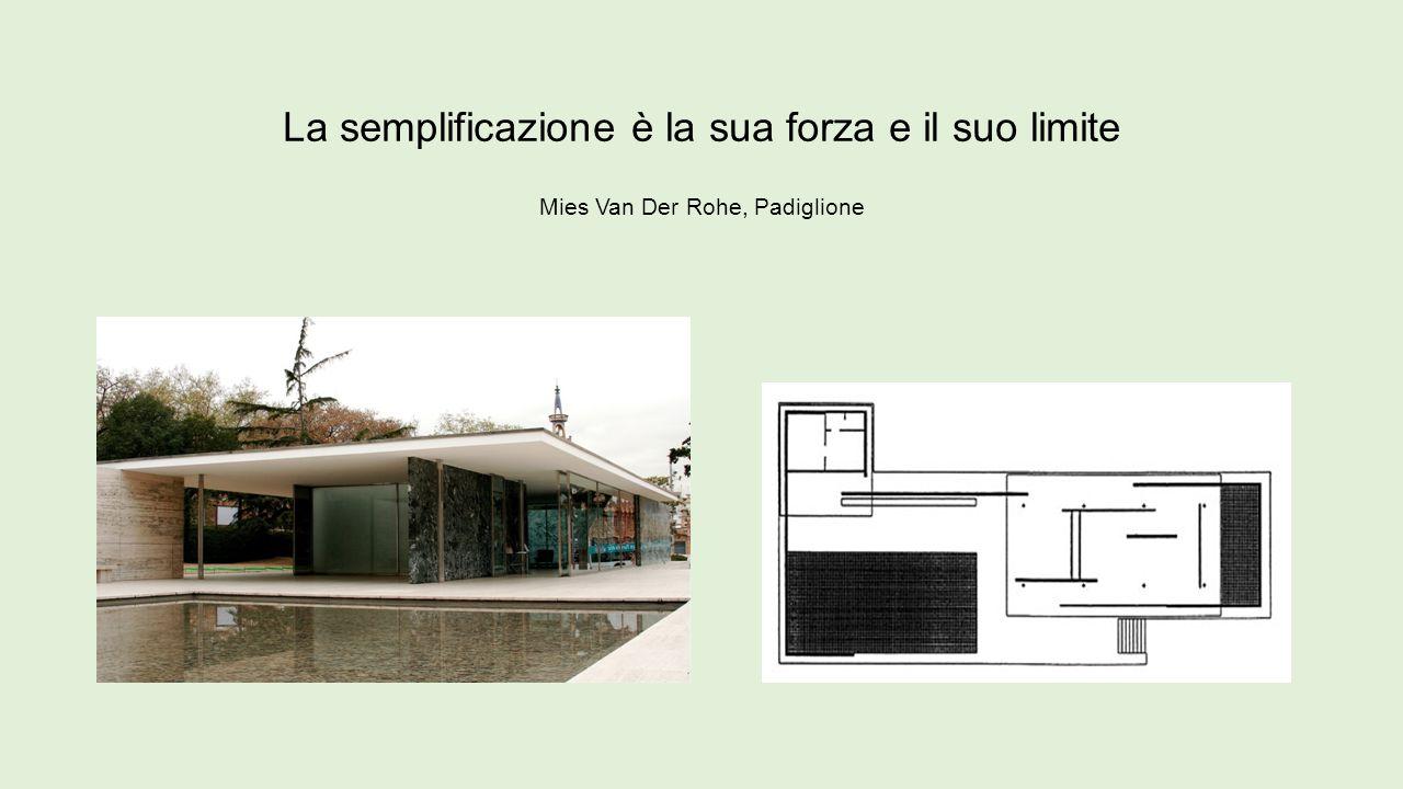 La semplificazione è la sua forza e il suo limite Mies Van Der Rohe, Padiglione