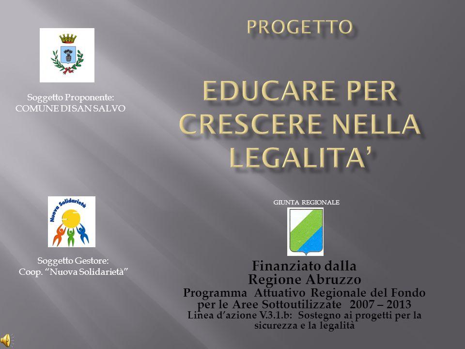 Progetto educare per crescere nella legalita'