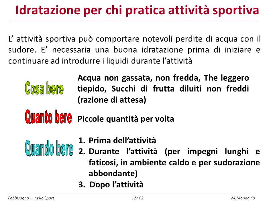 Idratazione per chi pratica attività sportiva