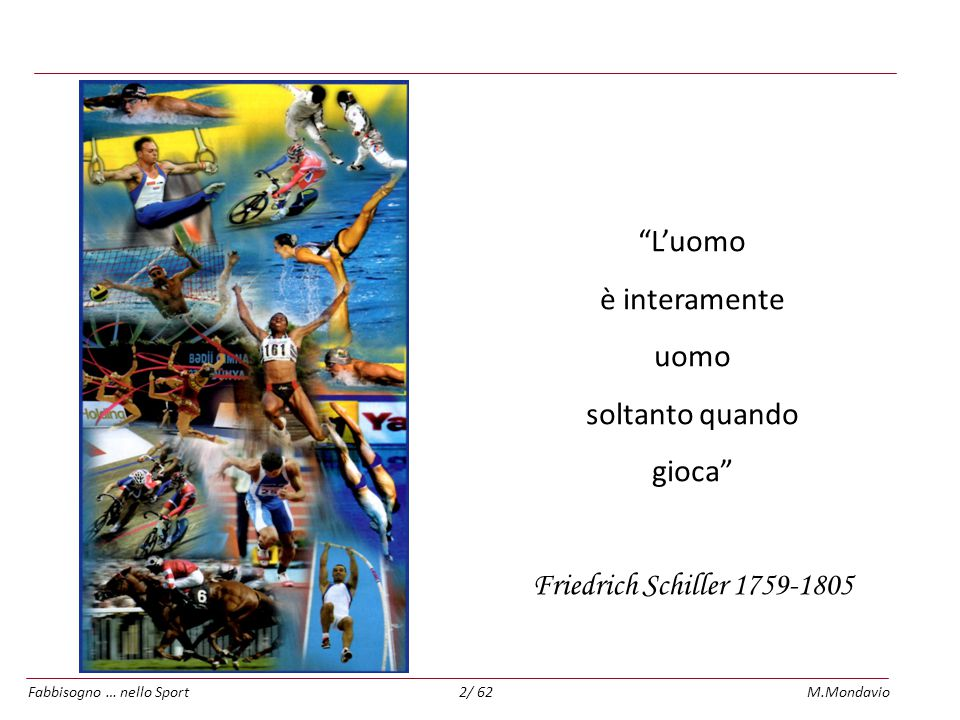 L'uomo è interamente uomo soltanto quando gioca Friedrich Schiller 1759-1805