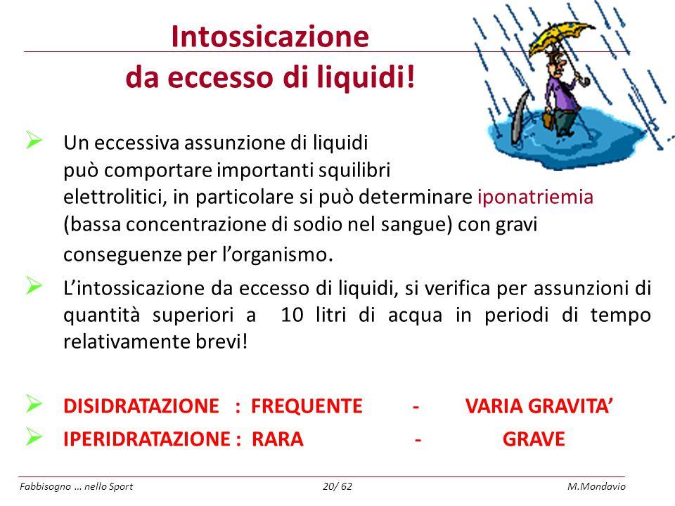 Intossicazione da eccesso di liquidi!