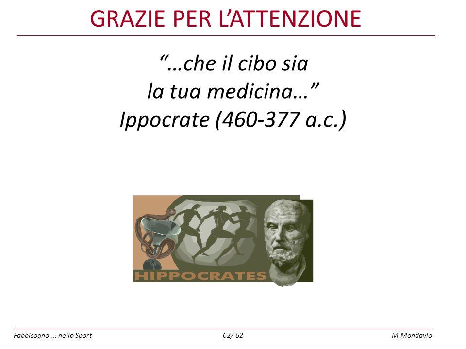 …che il cibo sia la tua medicina… Ippocrate (460-377 a.c.)