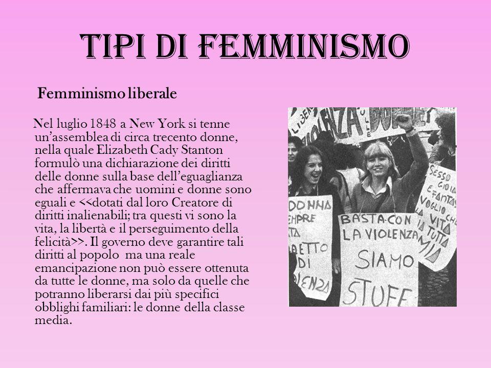 Tipi di femminismo Femminismo liberale