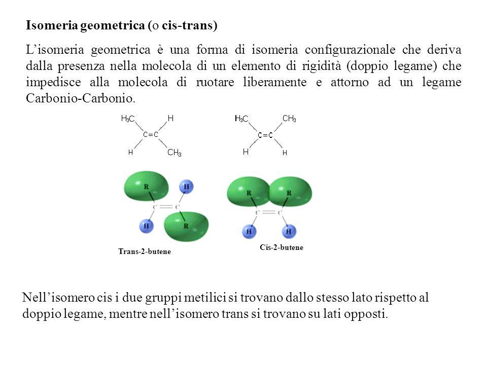 Isomeria geometrica (o cis-trans)