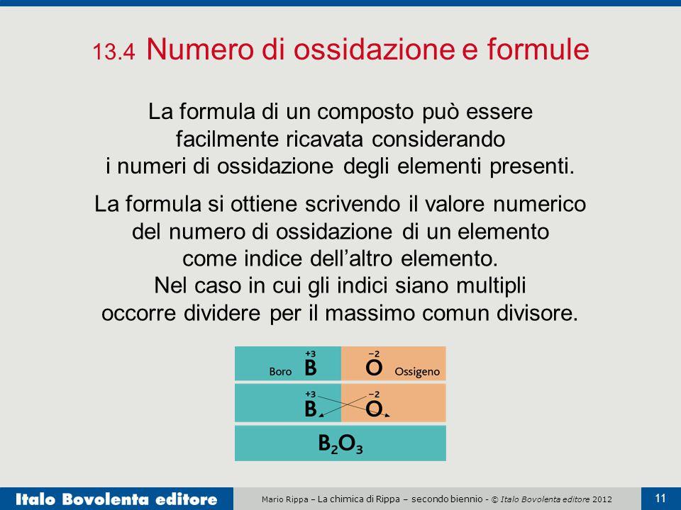 13.4 Numero di ossidazione e formule