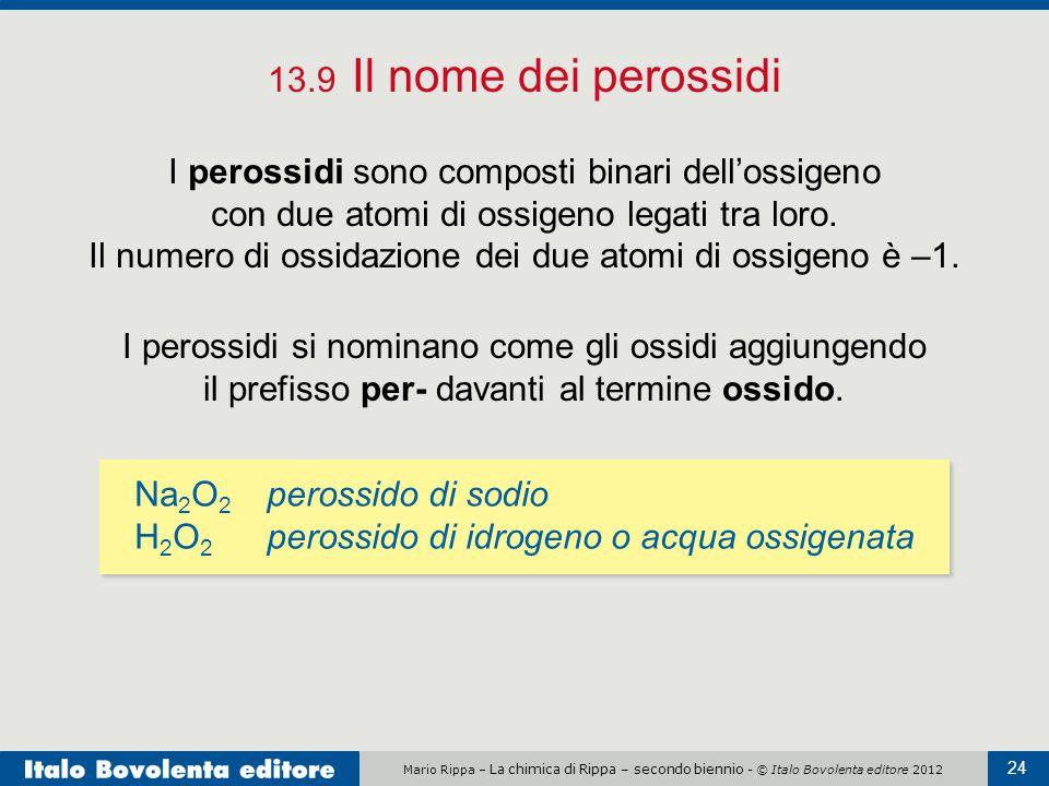 13.9 Il nome dei perossidi