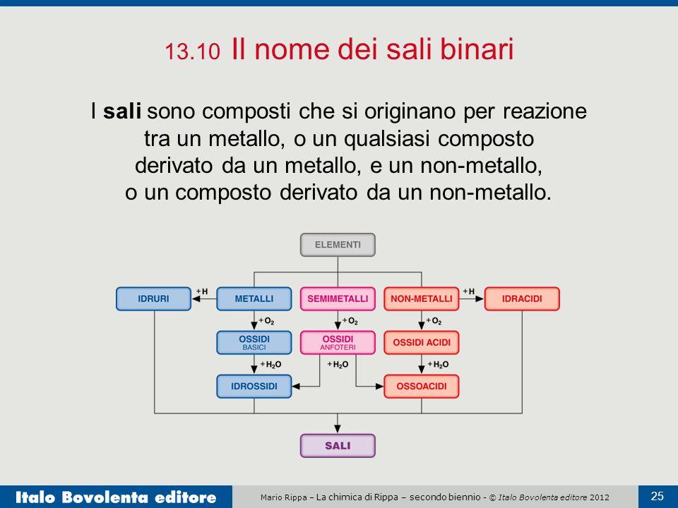 13.10 Il nome dei sali binari