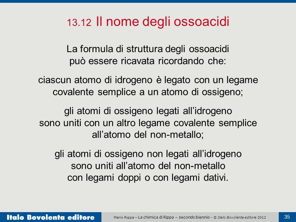 13.12 Il nome degli ossoacidi