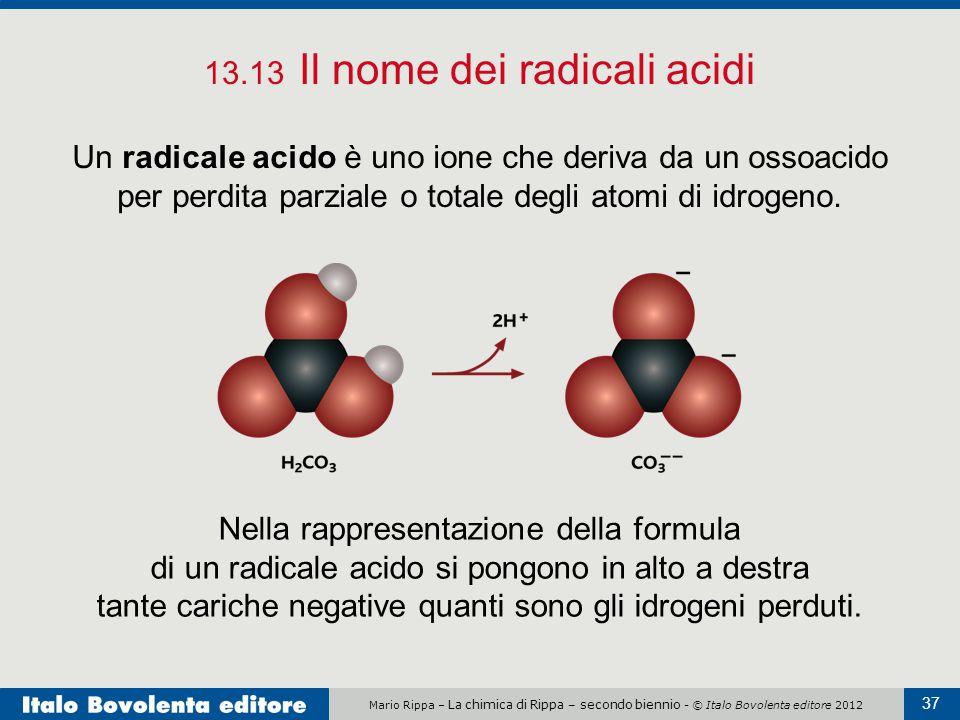13.13 Il nome dei radicali acidi