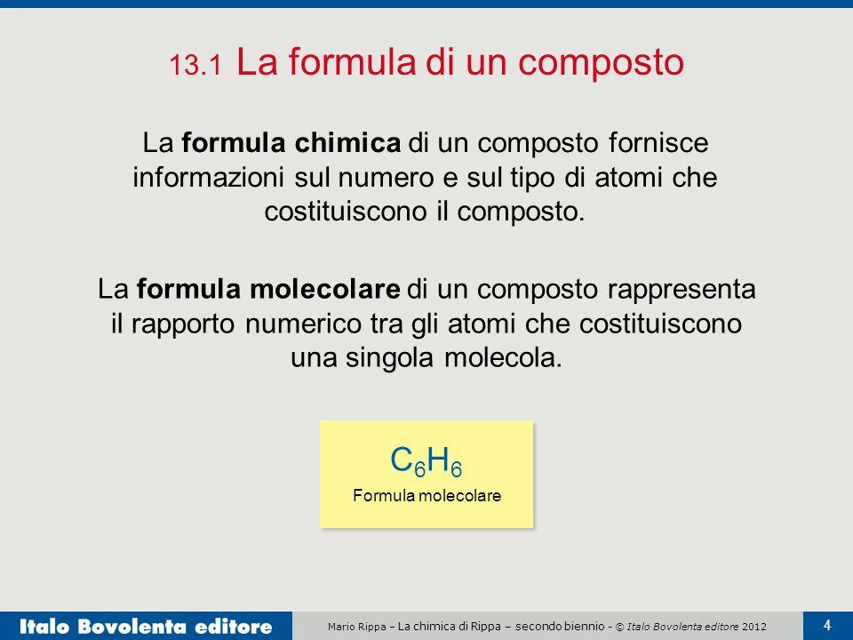 13.1 La formula di un composto