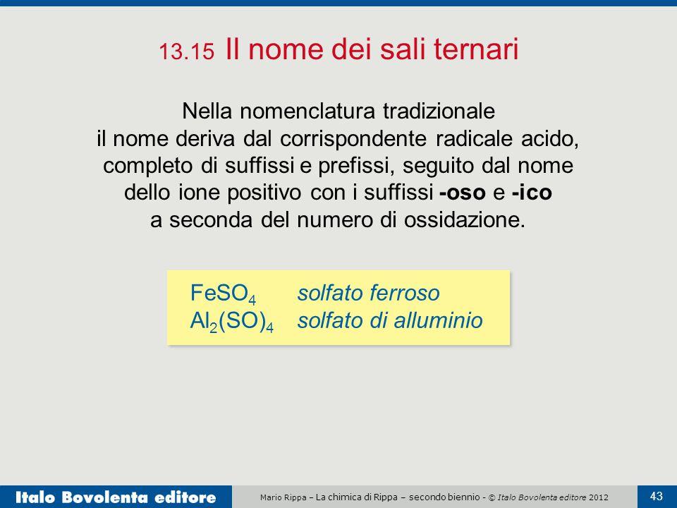 13.15 Il nome dei sali ternari