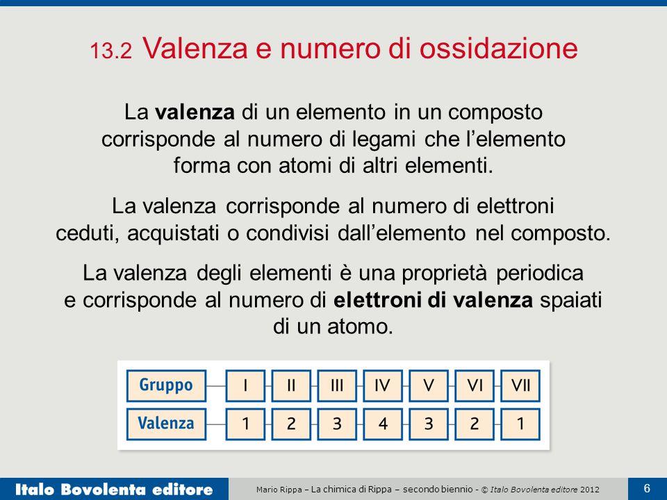 13.2 Valenza e numero di ossidazione