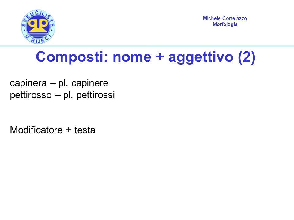 Composti: nome + aggettivo (2)