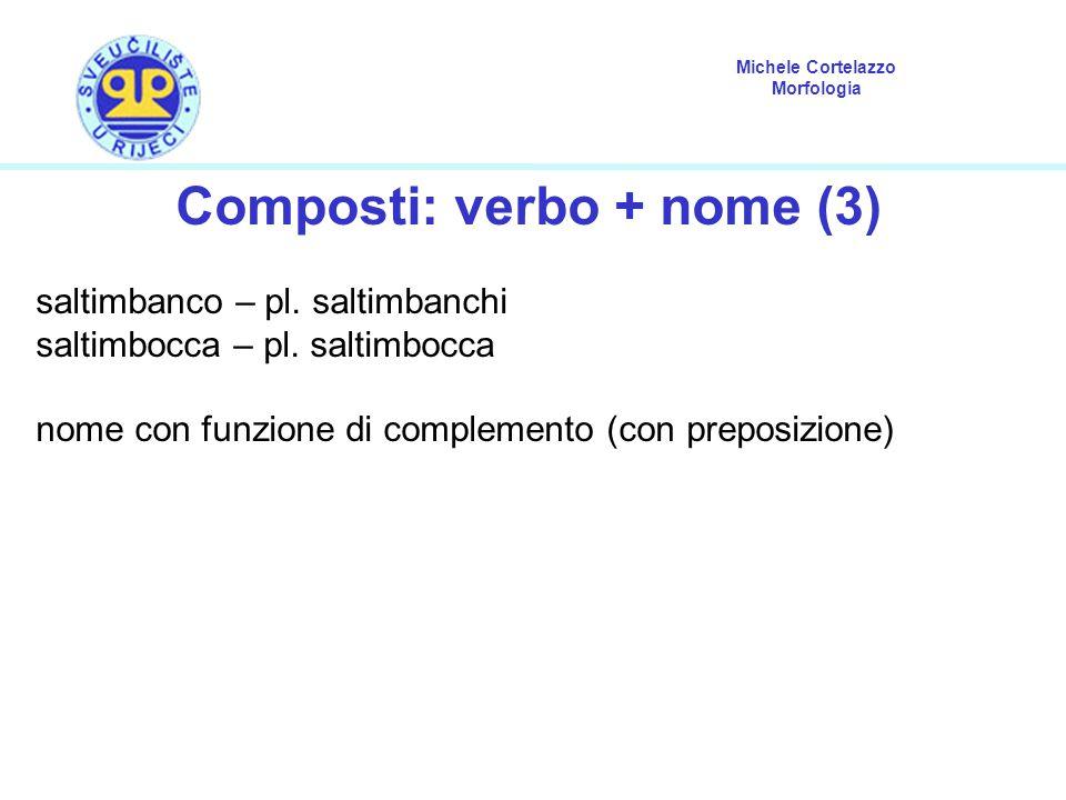 Composti: verbo + nome (3)