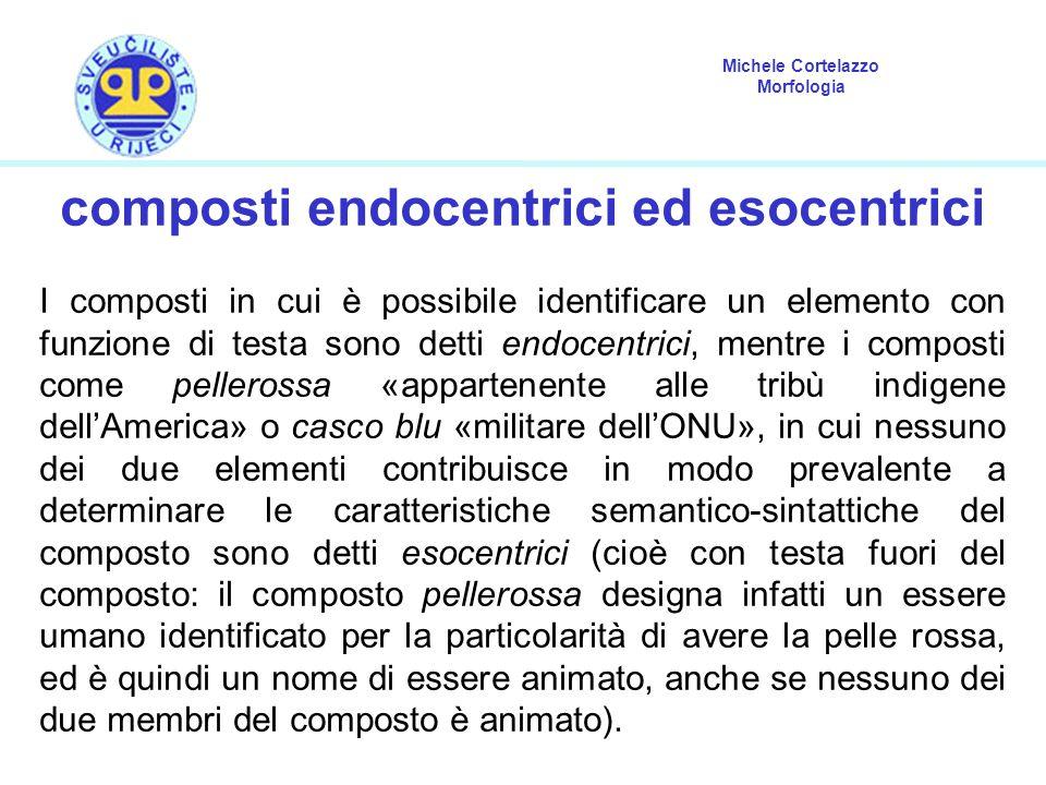 composti endocentrici ed esocentrici