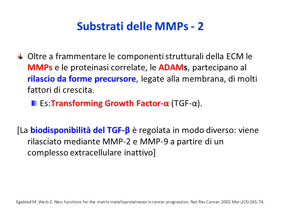 Substrati delle MMPs - 2