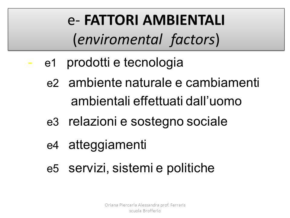 e- FATTORI AMBIENTALI (enviromental factors)