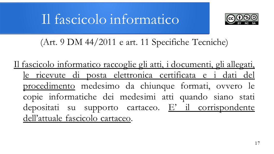 Il fascicolo informatico