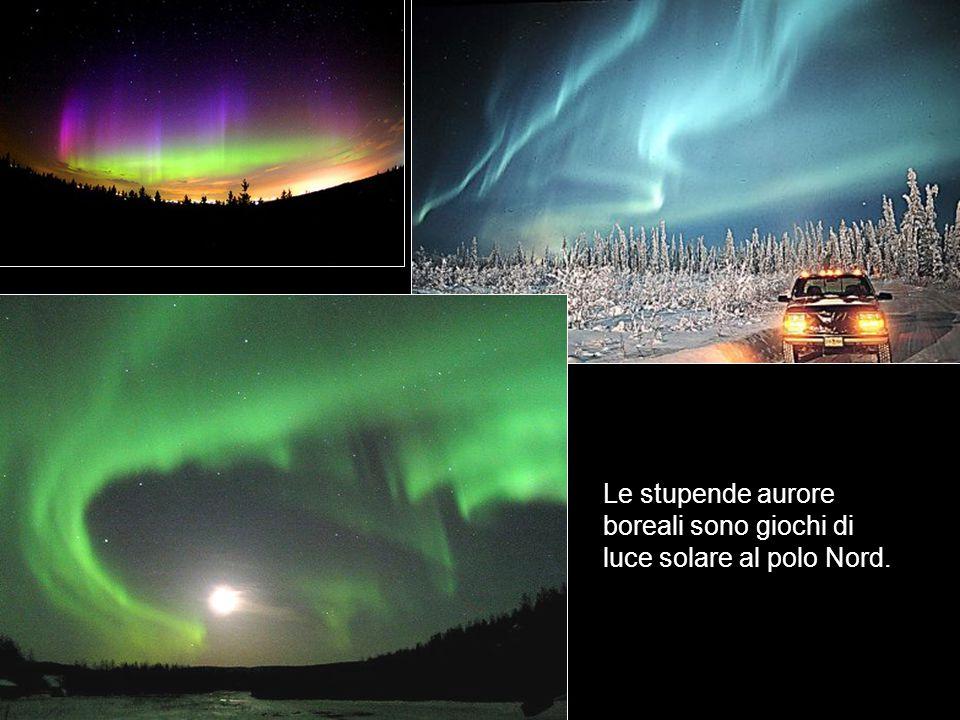 Le stupende aurore boreali sono giochi di luce solare al polo Nord.