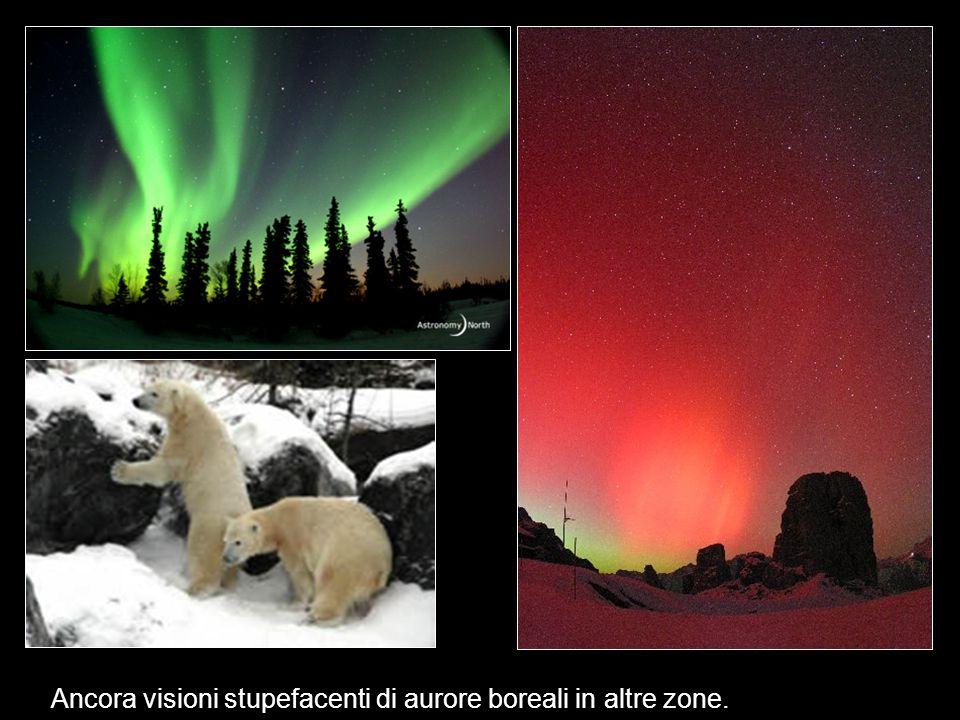 Ancora visioni stupefacenti di aurore boreali in altre zone.