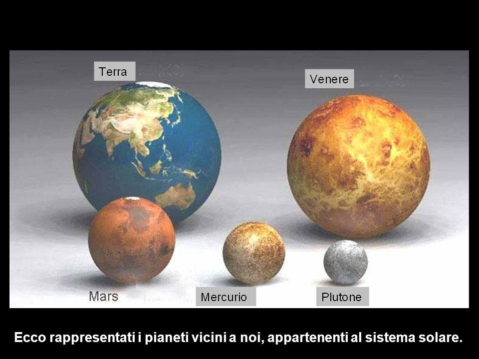 Ecco rappresentati i pianeti vicini a noi, appartenenti al sistema solare.
