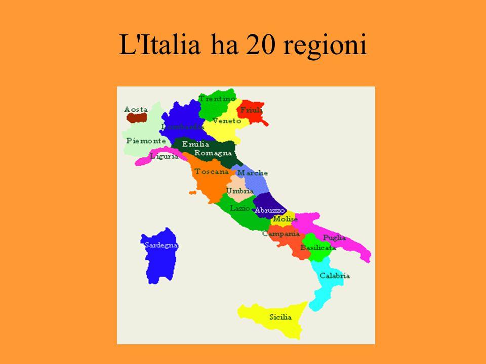 L Italia ha 20 regioni