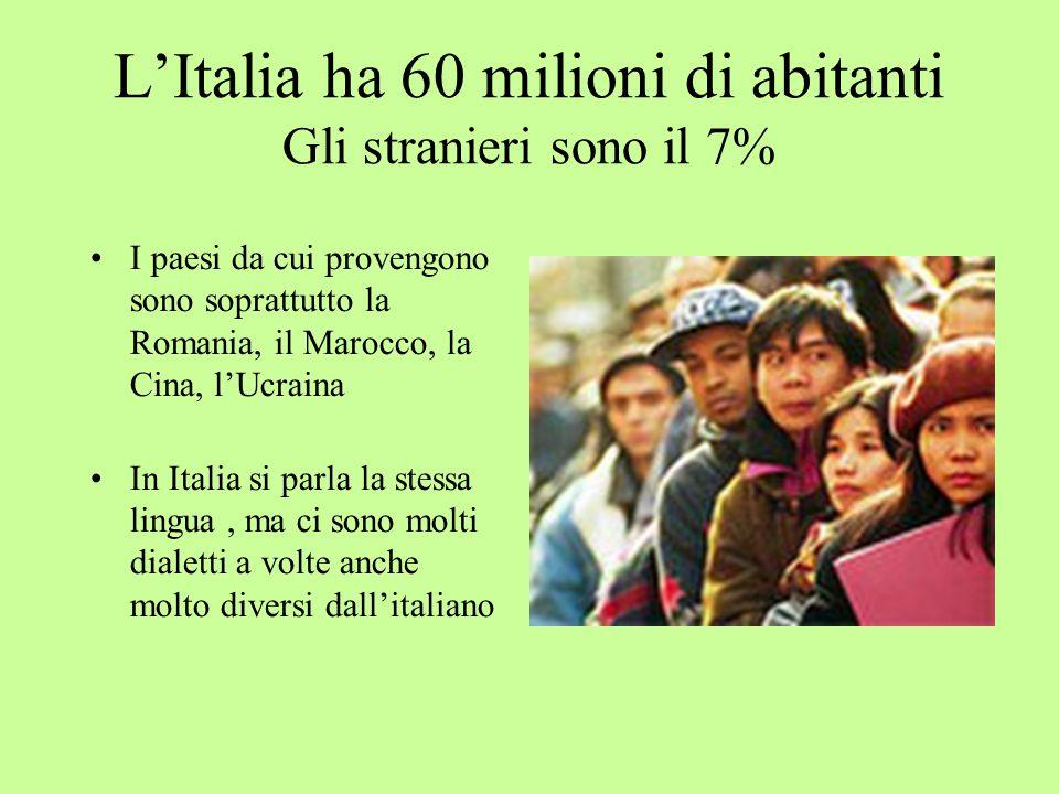 L'Italia ha 60 milioni di abitanti Gli stranieri sono il 7%