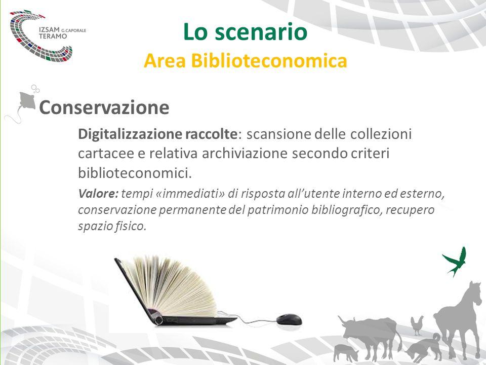 Lo scenario Area Biblioteconomica