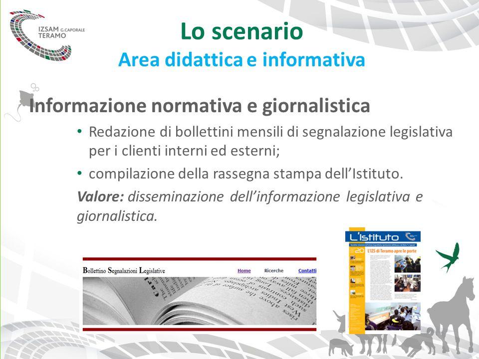 Lo scenario Area didattica e informativa